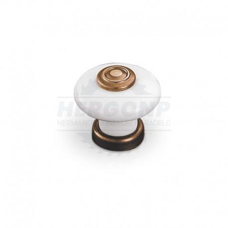 Tirador 9551/9552 PORCELANA Y BRONCE